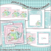 Joyfull Snowman Foldback Card, Envelope & Backing Paper