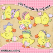 Little Ducks Easter ClipArt Graphic Collection