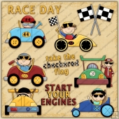 Start Your Engines ClipArt Graphic Collection