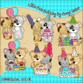 Little Pals Birthday ClipArt Graphic Collection