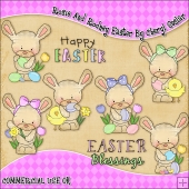 Rosie And Rodney Easter ClipArt Graphic Collection