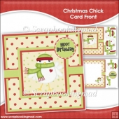 Christmas Chick Card Front & Insert Panel Kit
