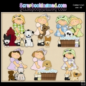 Cute Little Doggy Pals ClipArt Graphic Collection