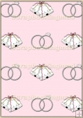 A4 Backing Papers Single - Pink Wedding - REF_BP_119