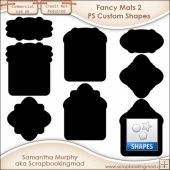 Fancy Mats 2 Photoshop Custom Shapes .CSH - CU OK