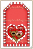 Red Valentine Tag - REF_T315