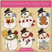Funny Snowmen Graphic Collection - REF - CS