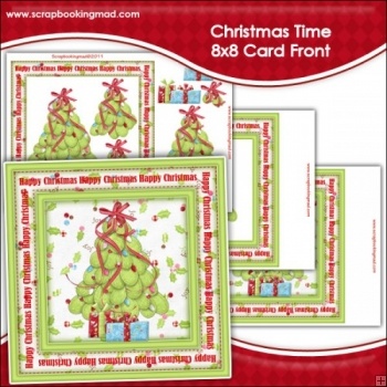 Christmas Time Large 8x8 Card Front