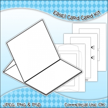 Easel Card & Envelope Template Commercial Use Ok