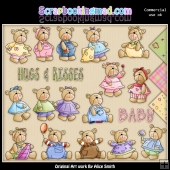 Lil' Bears Clipart Graphics Download