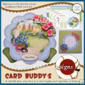 Relaxing in the Garden Large Scalloped Plate Card Kit