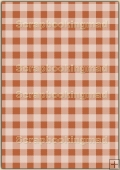 A4 Backing Papers Single - Orange Gingham - REF_BP_151