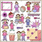 Sleepover Collection 1 ClipArt Graphic Collection