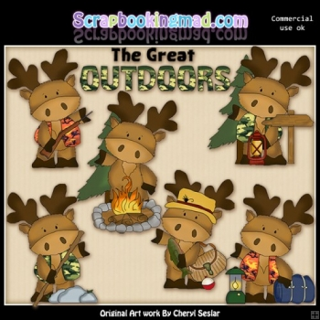 Marvin The Moose The Great Outdoors ClipArt Collection