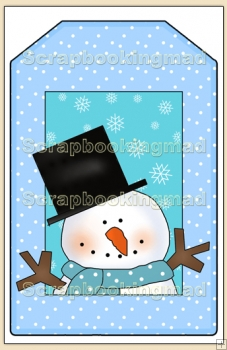 Cool Dude Christmas Gift Tag - REF_T636