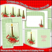 Christmas Candles Foldback Card, Envelope & Backing Paper