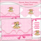 Flower Bear Envelope Card Front