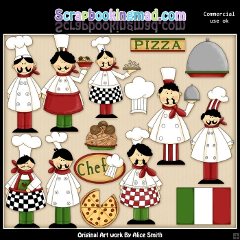 Chef ClipArt Graphic Collection