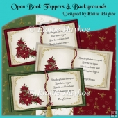Open Book Toppers & Backgrounds