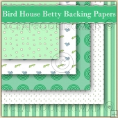 5 Bird House Betty Backing Papers Download (C149)