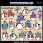 Penguin Party 1 ClipArt Graphic Collection For Christmas
