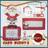 Santa Over The Top Card Kit