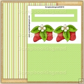 Strawberry Patch PDF Penny Slider Card Download
