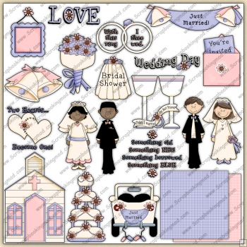 Wedding Day ClipArt Graphic Collection