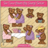 Tea Time Bears Graphic Collection - REF - CS