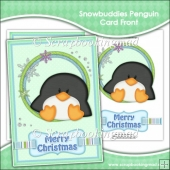 Snowbuddies Penguin Card Front