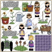 Garden Time ClipArt Graphic Collection