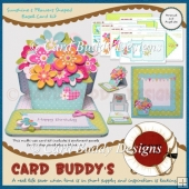 Sunshine & Flowers Shaped Easel Card Kit