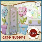 Friendship's Fragrant Garden Shaped Tri Fold Card Kit