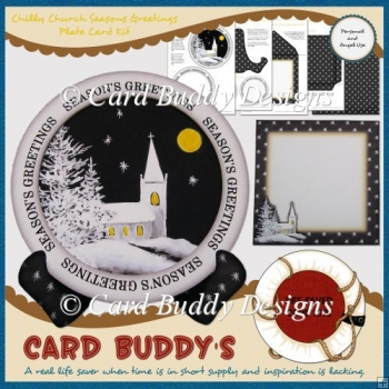 Chilly Church Season's Greetings Plate Card Kit