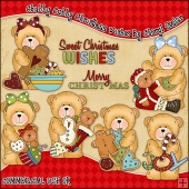 Chubby Cubby Christmas Wishes ClipArt Graphic Collection