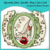 Rosebud Shoe Double Pop-Out Card