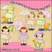 Little Punkins April Showers ClipArt Graphic Collection