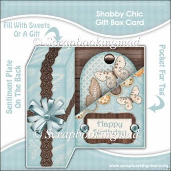 Shabby Chic Gift Box Card