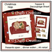 Christmas Nap - Topper & Decoupage Sheet