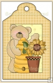 Sunflower Bears Gift Tag - REF_T597