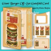 Giant Burger Birthday Off-Set Gatefold Card