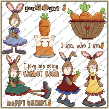Bunny With Attitude ClipArt Graphic Collection