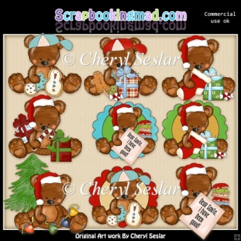 Theodore And Thelma Christmas Wishes ClipArt Collection