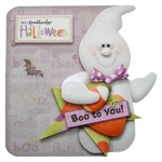 A Spooktacular Halloween Shaped Fold Card - view 1