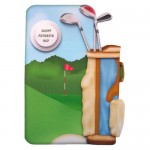 Crazy for Golf Shaped Fold Card - view 1