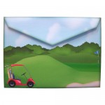 Crazy for Golf Shaped Fold Card - envelope back