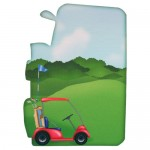Crazy for Golf Shaped Fold Card - back view