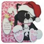 A Purr-fect Christmas Shaped Fold Card - view 1