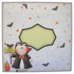 Vampire Greetings Shaped Fold Card - envelope front