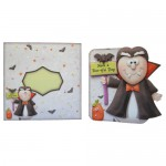 Vampire Greetings Shaped Fold Card - finished set